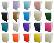 A5 Coloured Greeting Card Blanks with White Envelopes – Choose Colour & Quantity